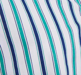 Navy Blue/Teal Green Strip