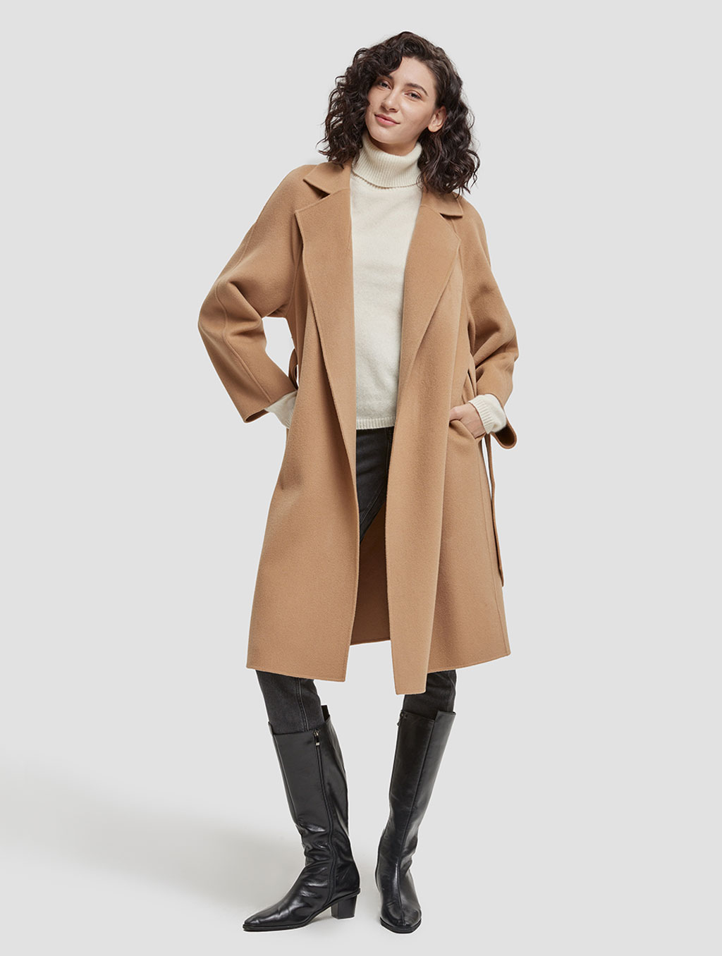 Belted Wrap Wool Coat-cover-camel