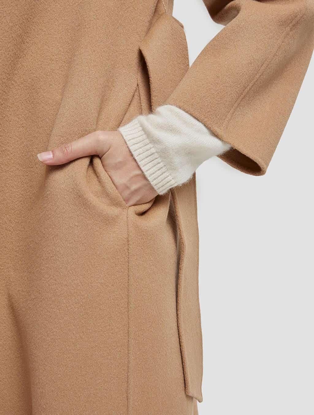 Belted Wrap Wool Coat-detail1-camel