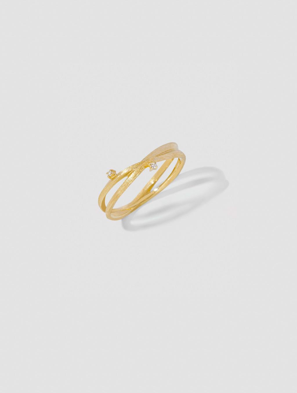 Diamond Winding Ring-positive-18k Yellow Gold