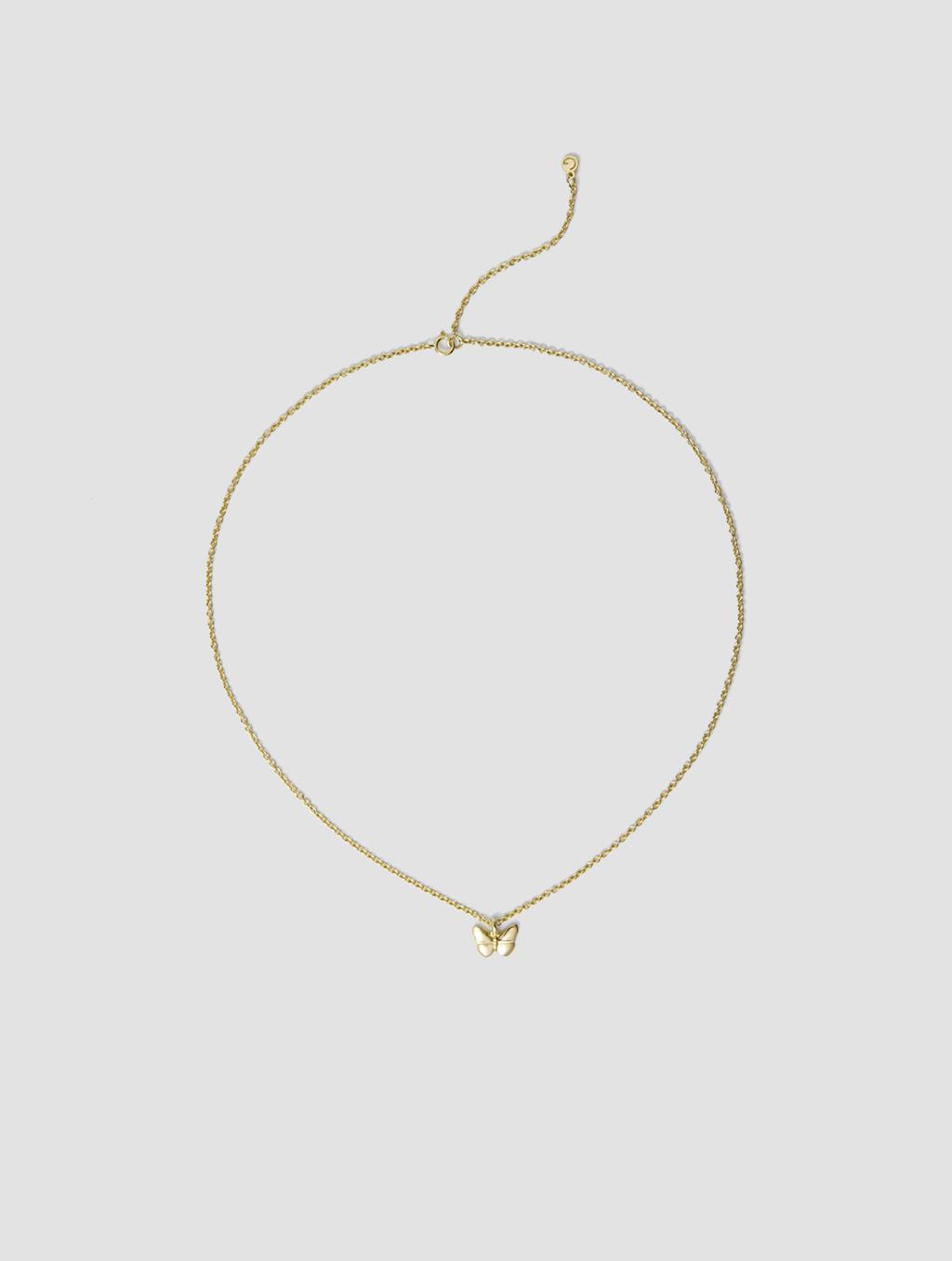 Golden Butterfly Necklace-positive-18k Yellow Gold