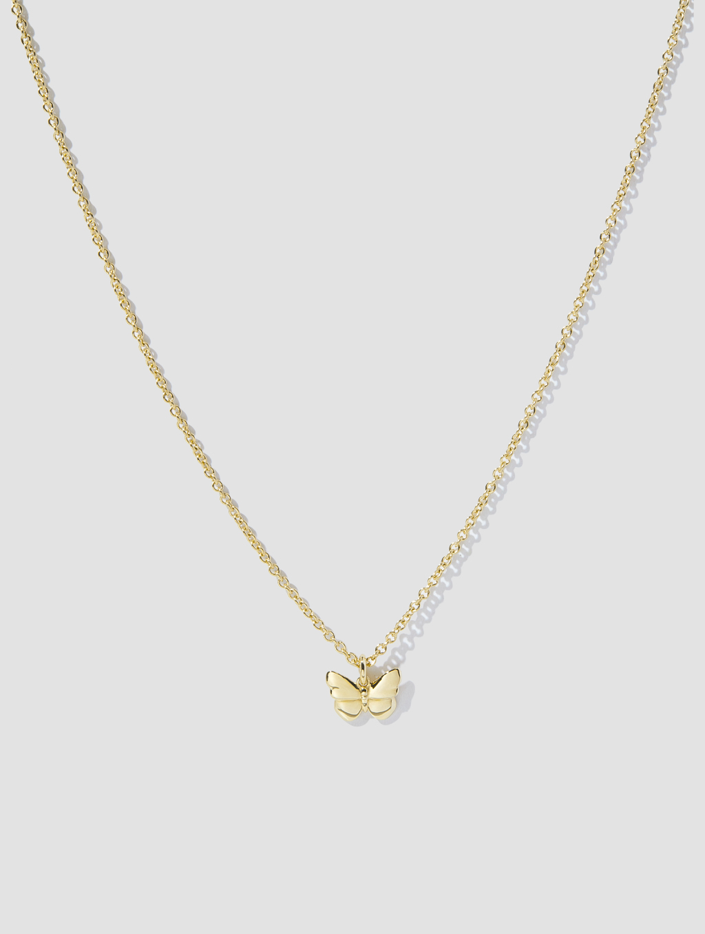 Golden Butterfly Necklace-positive1-18k Yellow Gold