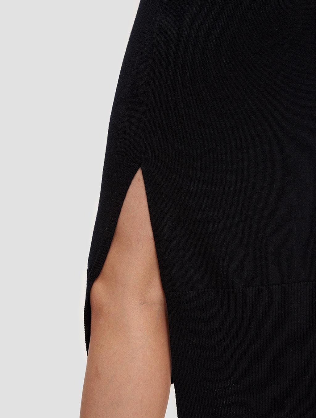 round neck knit dress-detail1-black