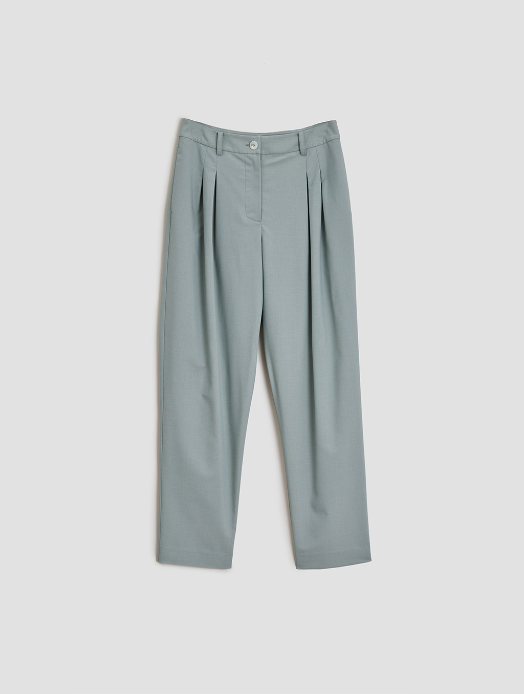 Ankle length Tapered pants- Tiled-Pale green