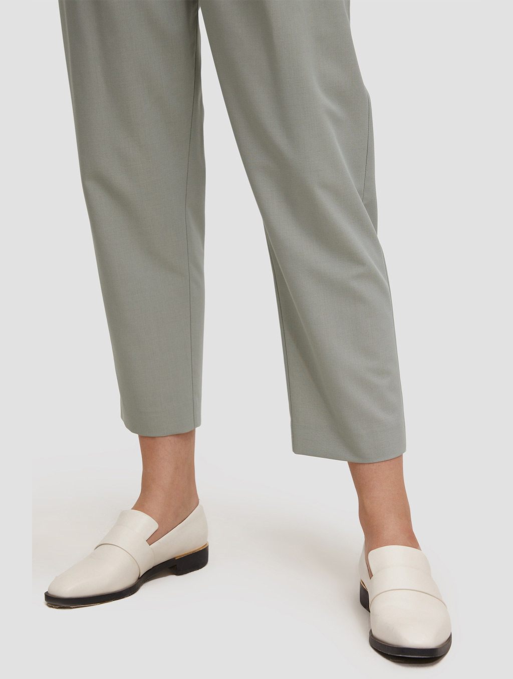 Ankle length Tapered pants-detail2-pale green