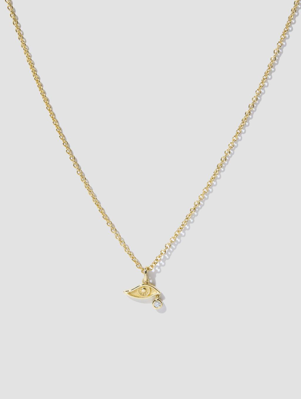 Diamond Devil's Eye Necklace2