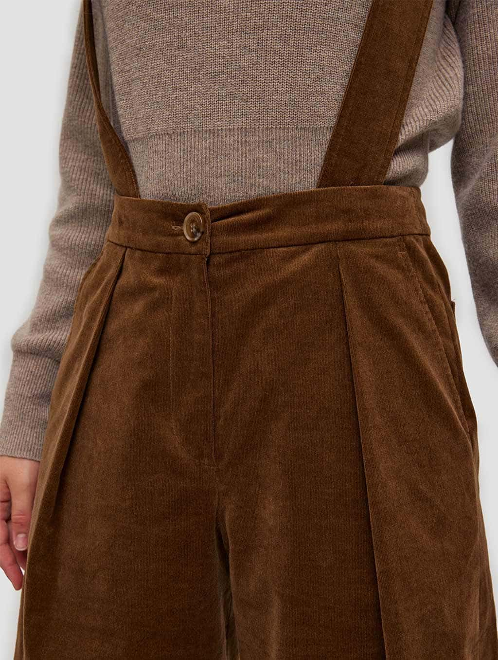 Overall Shorts - detail- brown1