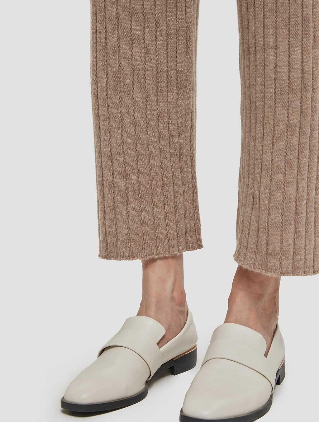 Slim fit casual cashmere pants-detail1-khaki